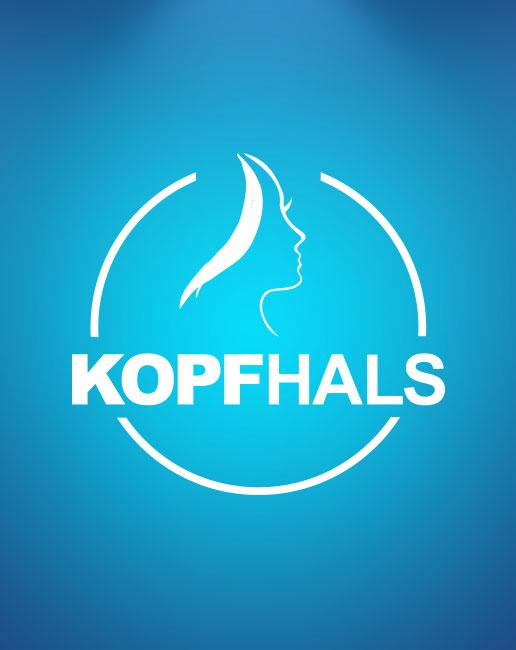 HNO-Praxis Bochum - Logo auf blauem Hintergrund